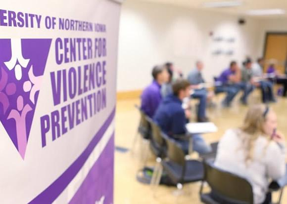 Participants in a Mentors in Violence Prevention class